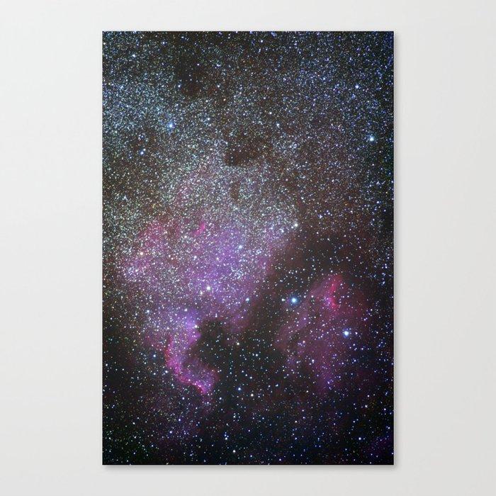 North America Nebula and Pelican Nebula Canvas Print