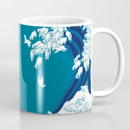 Waves Llama Coffee Mug