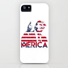 Donald Trump Politics Government USA American Flag Gift Merica Trump iPhone Case