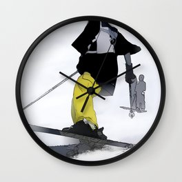 Ski Run Finish Wall Clock