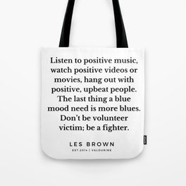 41  |  Les Brown  Quotes | 190824 Tote Bag
