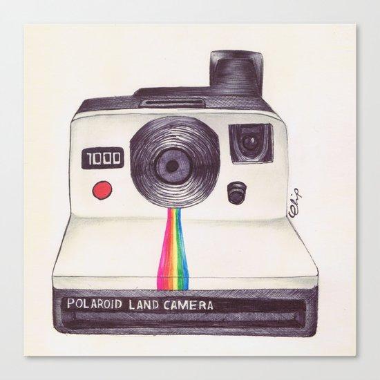 Ballpoint Pen Polaroid Canvas Print