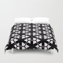 Multi Pattern Black and White Design Duvet Cover