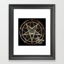 Cult of the Great Pumpkin: Pentagram Framed Art Print