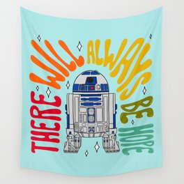 """""""There Will Always Be Hope - R2-D2"""" by Doodle by Meg Wall Tapestry"""