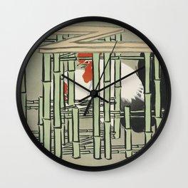 Kamisaka Sekka - Roosters from Momoyogusa Wall Clock