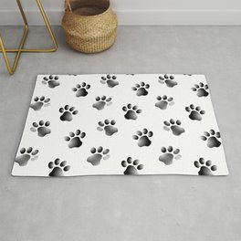 Cat Dog Animal Paw Prints Rug
