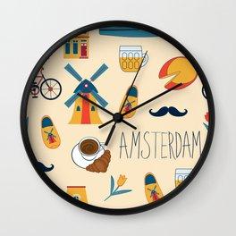 Amsterdam pattern Wall Clock