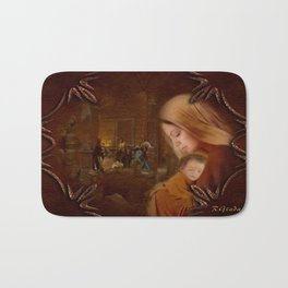 Christmas Blessings - Christmas art by Giada Rossi Bath Mat