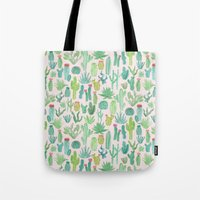 cactus Tote Bags featuring Cactus by Abby Galloway
