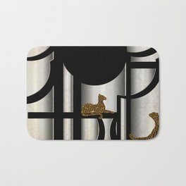 Art Deco Cheetas with Moon Bath Mat