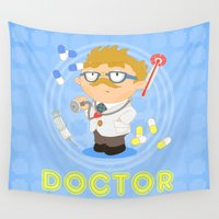 doctor Wall Tapestries featuring Doctor by Alapapaju
