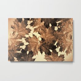 Autumn Sepia Metal Print