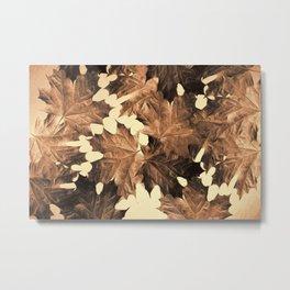 Autumn Sepia Metal Print