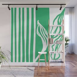 Long Leaf Stripe green Wall Mural