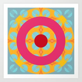 Carbuncle - Colorful Decorative Abstract Art Pattern Art Print