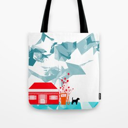 Gas station and the dog Tote Bag