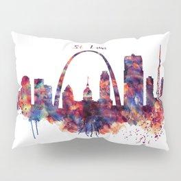 St Louis Watercolor Skyline Pillow Sham