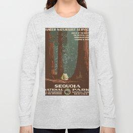 1938 Sequoia National Park - Vintage Poster Long Sleeve T-shirt