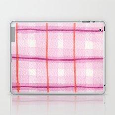 Raspberry Plaid Laptop & iPad Skin