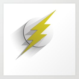 Flash flat Art Print