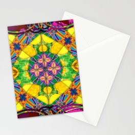 number 156 pink purple yellow green blue pattern Stationery Cards