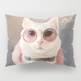 Fashion Portrait Cat Pillow Sham
