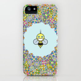 FLOWER POWER BEE iPhone Case