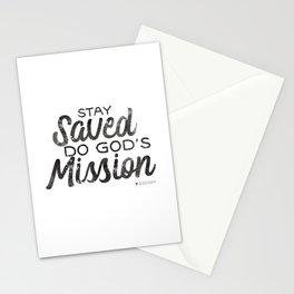 Stay Saved Do God's Mission Stationery Cards