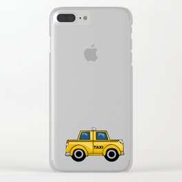 Yellow Taxi Clear iPhone Case