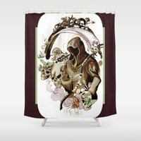 tarot Shower Curtains featuring Death Tarot by A Hymn To Humanity