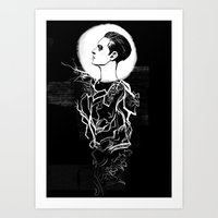 dishonored Art Prints featuring Delilah by Tea and Ink
