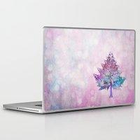 christmas tree Laptop & iPad Skins featuring Christmas Tree by Klara Acel