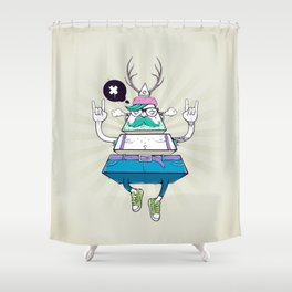 Triangle Hipster Shower Curtain