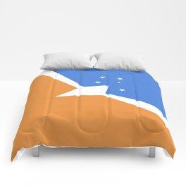 Tierra Del Fuego Province Argentina flag emblem Comforters