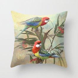 Eastern Rosella  Throw Pillow