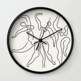 Three Dancers by Pablo Picasso Wall Clock