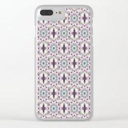 Lavander lace Clear iPhone Case