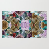 crystal Area & Throw Rugs featuring Crystal by Joanna Tadger