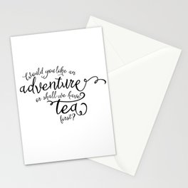 Adventure or tea Stationery Cards