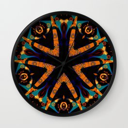 Tribal Geometric Wall Clock