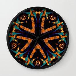 Tribal Geometric Wall Clock