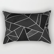 Black Stone Rectangular Pillow
