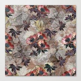 Flower Kaleidoscope. Anemones Canvas Print