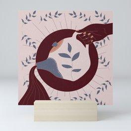 Pour // Hot Tea Love // Leaves and Tea // Pouring Tea // Pouring Water // Hand on Tea Kettle Mini Art Print