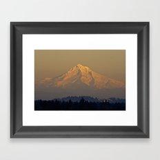 Alpenglow Framed Art Print