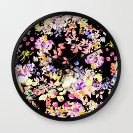 Soft Bunnies black Wall Clock