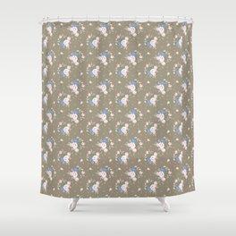 Heirloom Rose - Raw Umber Shower Curtain