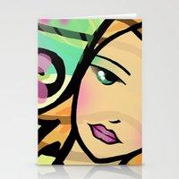 calendar Stationery Cards featuring Calendar gal by Laimaifaier