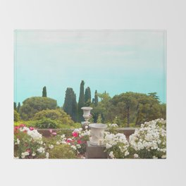 sea view from the park Throw Blanket